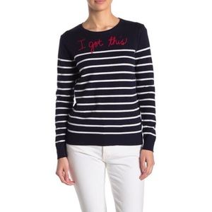 """Beach Lunch Lounge striped """"I Got This"""" sweater"""